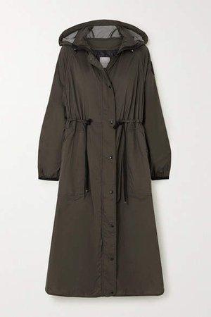 Hooded Shell Raincoat - Green