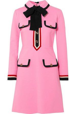 Gucci | grosgrain-trimmed jersey mini dress