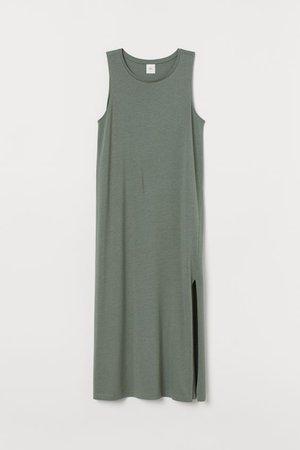 Tank-top Dress - Khaki green - Ladies   H&M US