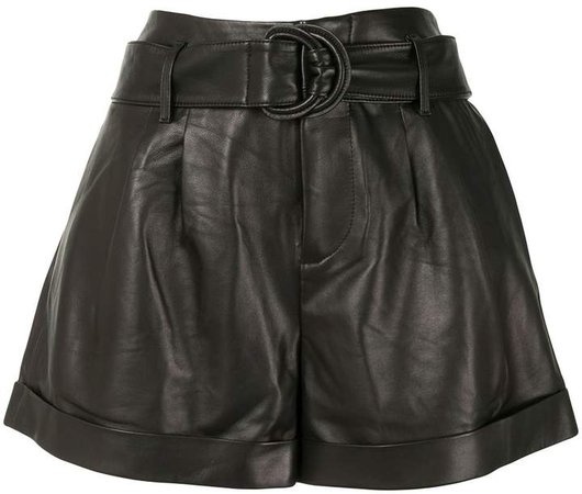 High-Rise Belted Shorts