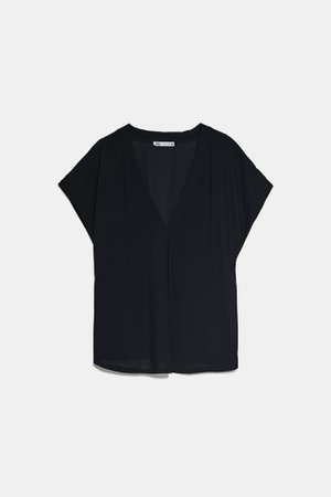 FLOWY V - NECK TOP | ZARA United States