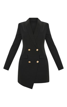 Black Gold Button Blazer Dress | Dresses | PrettyLittleThing USA
