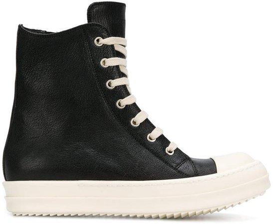 contrast hi-top sneakers