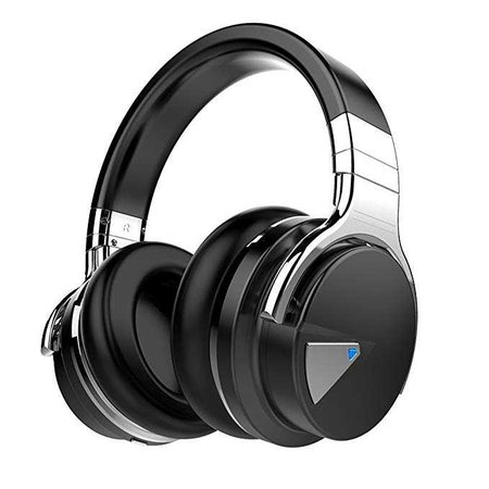 Amazon.com: COWIN E7 Active Noise Cancelling Bluetooth Headphones with Microphone Hi-Fi Deep Bass Wireless Headphones Over Ear, Comfortable Protein Earpads, 30H Playtime for Travel Work TV Computer Iphone - Black: Electronics