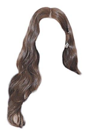 wavy brown hair png