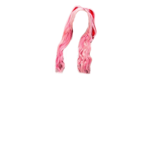 PINK HAIR PNG TWIN PIGTAILS