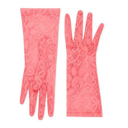 Tulle gloves with floral motif - Gucci Women's Gloves 5569103SB635600