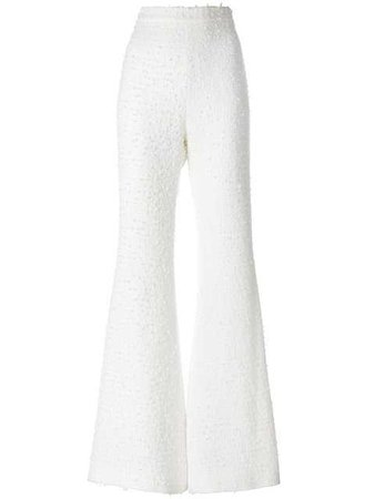 Balmain Bouclé Tweed Flared Trousers - Farfetch