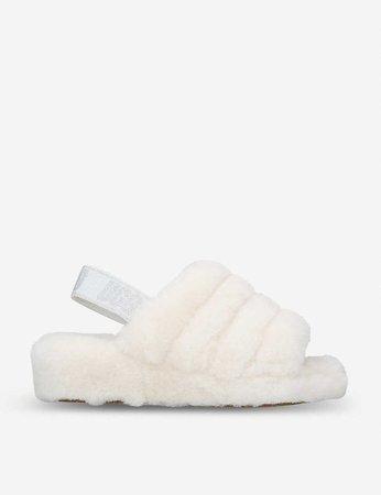 white ugg slides 😩