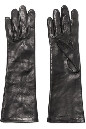 Agnelle | Leather gloves | NET-A-PORTER.COM