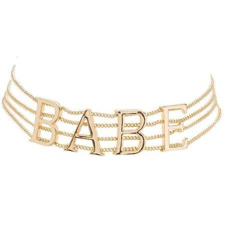 gold chain babe choker