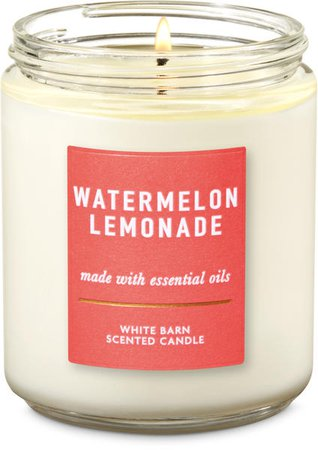 watermelon lemonade scented candle