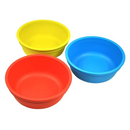 Amazon.com : Re-Play 3 Pack Bowls - Primary Colors : Baby