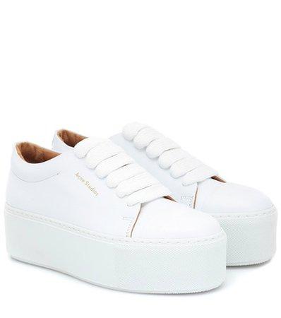 Drihanna platform leather sneakers
