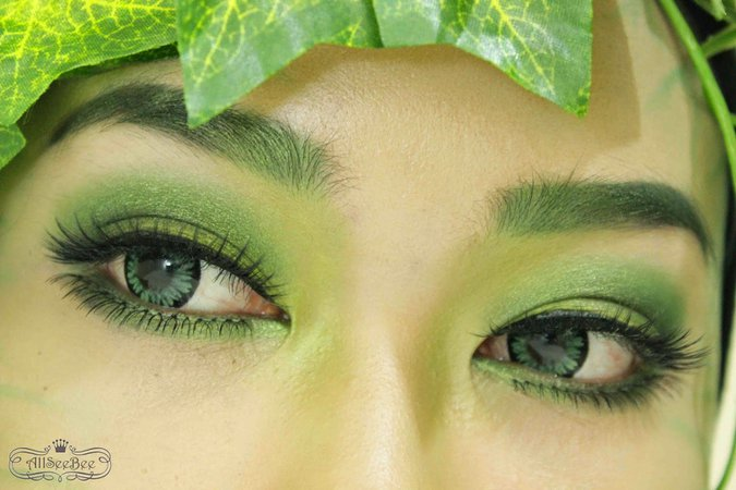 poison ivy eye makeup green lash - Google Search