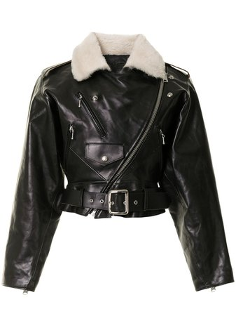Shop black R13 motorcycle leather jacket with Express Delivery - Farfetch