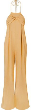L'ensemble Saha Crepe De Chine Jumpsuit - Yellow