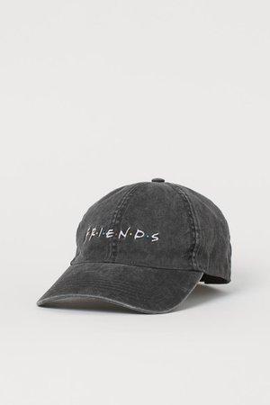 Embroidered Cap - Dark gray/Friends - Ladies | H&M US