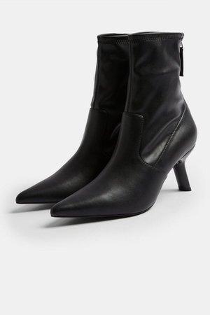 MEMO Black Point Sock Boots | Topshop