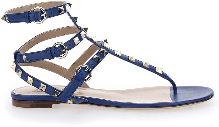 Rockstud Open-Toe Sandals