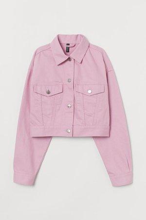 Cropped Denim Jacket - Light pink - Ladies | H&M US