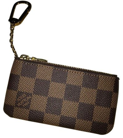 Louis Vuitton Key Pouch Clutch 2016 New Damier Ebene Cles Clefs Credit Card Cash Holder Wallet Brown Canvas Wristlet - Tradesy