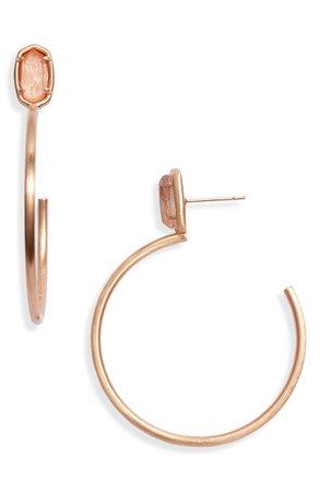 Kendra Scott Pepper Small Stone Hoop Earrings   Nordstrom