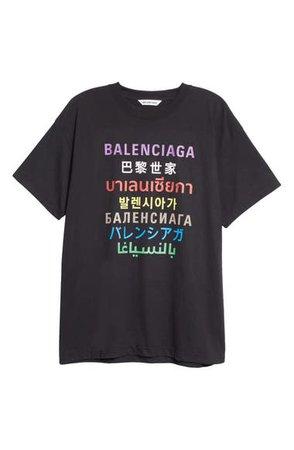 Balenciaga Logo Graphic Tee | Nordstrom