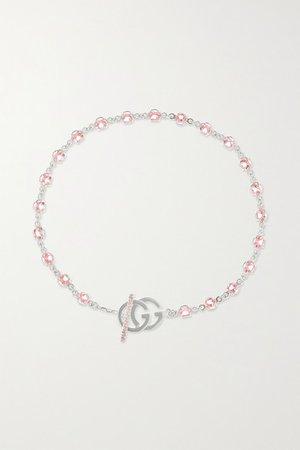 Gucci | 18-karat white gold topaz bracelet | NET-A-PORTER.COM