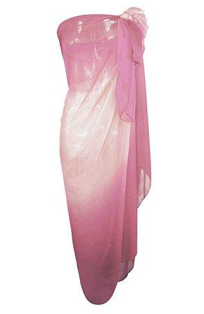 beach coverup sarong sheer pink