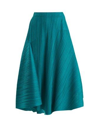 Pleated circular midi skirt | Pleats Please Issey Miyake | MATCHESFASHION.COM US