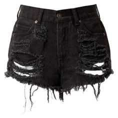 black denim short