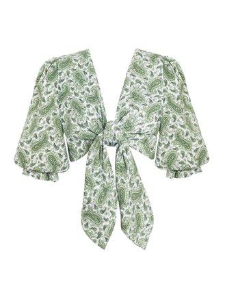 Jacinta Top Sable Paisley Print - Green – Faithfull the Brand