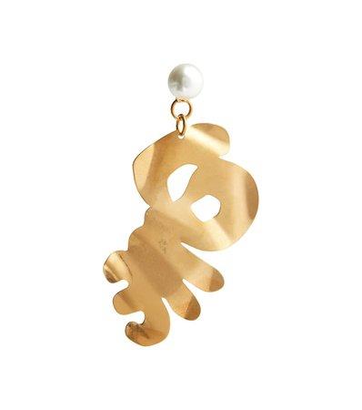 Marni - Faux-pearl drop earrings | Mytheresa
