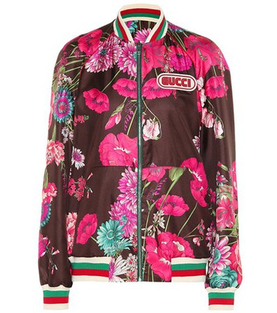 Reversible silk twill jacket