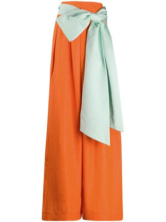 Alice+Olivia Front Bow Palazzo Trousers - Farfetch