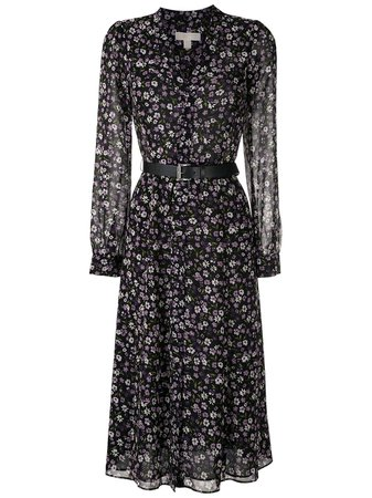 Michael Michael Kors Floral Print Dress - Farfetch