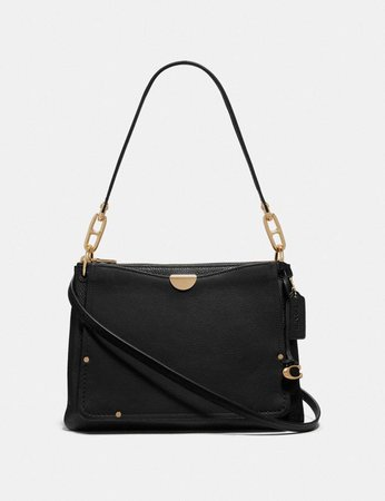 black shoulder bag with hint of gold - Google Search