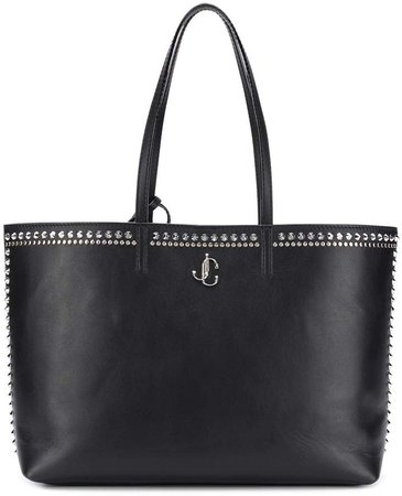 stud embellished tote bag