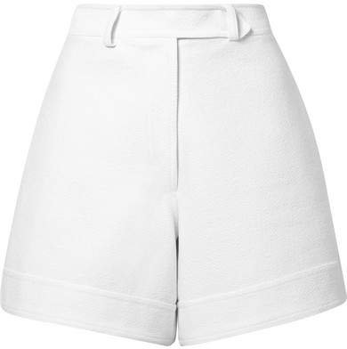 Cotton-cloqué Shorts - White