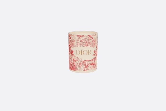 Small Candle Red Toile de Jouy - OBJETS & DECORATION - Maison   DIOR