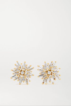 Gold 18-karat gold diamond earrings | Suzanne Kalan | NET-A-PORTER