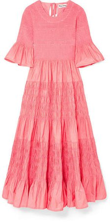 Molly Goddard - Shaan Shirred Taffeta Dress - Pink