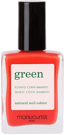 Green Nail Lacquer - Coral Reef