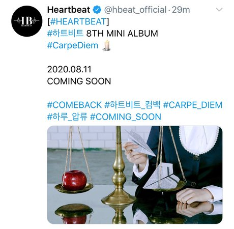 HEARTBEAT SEPTEMBER 2020 COMEBACK
