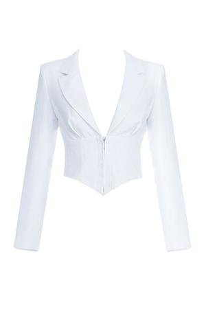 Maans Short Jacket -White – AD Los Angeles