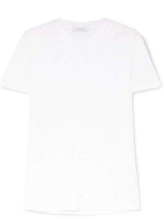 Linen-jersey T-shirt - White
