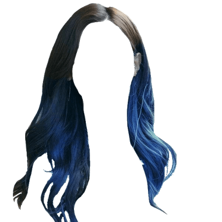 Black to blue ombre hair transparent (Heavenscent)