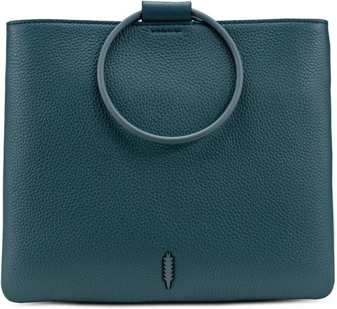 Le Pouch Ring Handle Leather Shoulder Bag
