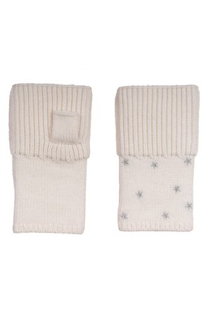 Carolyn Rowan Accessories Starry Merino Wool Fingerless Gloves | Nordstrom